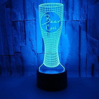 ... Optique Veilleuse Chope À Biere Lumière De Nuit Avec Câble USB Et 7  Couleurs Décoration Pour Enfant Chambre Chevet Table De Bébé Enfant Cadeau  De Noël ... 20e2208f74db