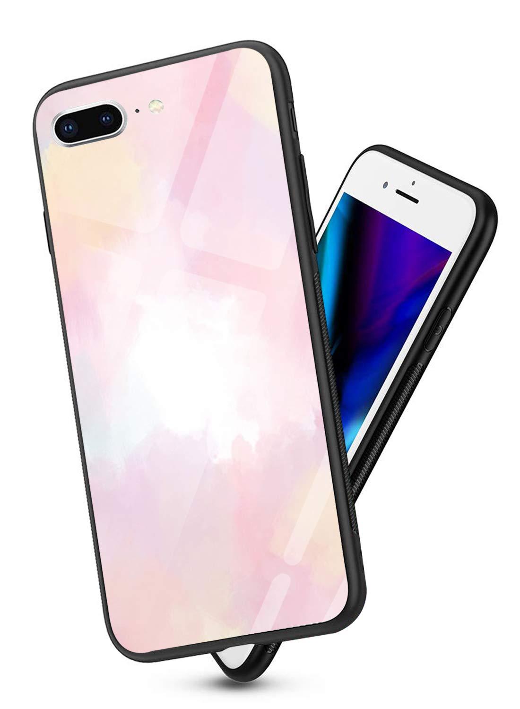 Oihxse Colorido Gradual Cristal Estilo Case Compatible con iPhone 6 Plus/iPhone 6S Plus Funda Vidrio Templado Trasera… 1
