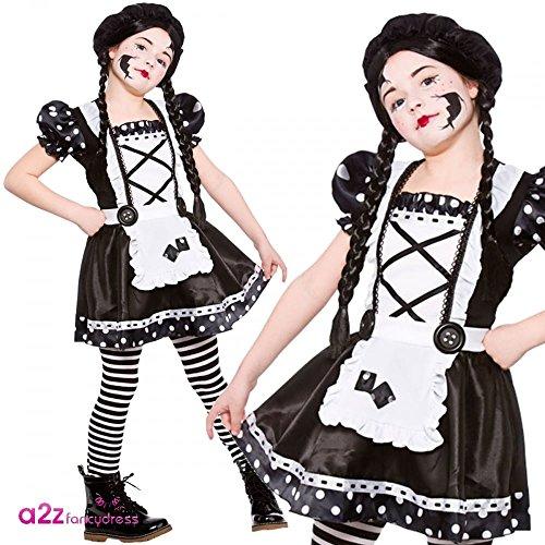 Imagen de disfraz de la muñeca quebrada para las niñas. talla l de 8 10 años 134 146cm ...