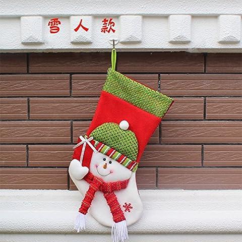 KMDJ calze di Natale regali di Natale ornamenti Natale old Santa Natale natale decorazione artigianale di Natale