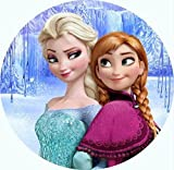 Anna,Elsa Runde Torten Druck Bild auf A4