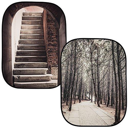 Lastolite LL LB5740 Hintergrund mit Bildtiefe Steintreppe/Winter Lastolite Studio
