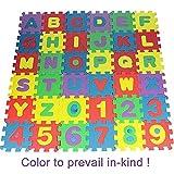 599ab10f8a Faith Wings 36 Pezzo Lettere e Numeri Tappeto Puzzle Bambini in Soffice  Schiuma EVA,appeto