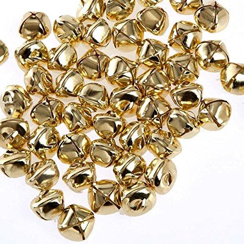 Kleenes TH - 100 x campanelle decorative in ferro, con occhiello, ø 15 mm, colore: Oro, gold, 15 mm