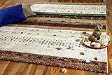 Eyak Designer Gabbeh Teppich Beige Klassik in 4 Größen