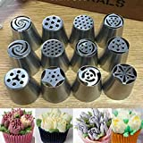 #10: 1PC Stainless Steel Tulip Nozzle Rose Flower Russian Piping Tips Nozzles Decoration for Cake DIY Icing Piping Nozzles