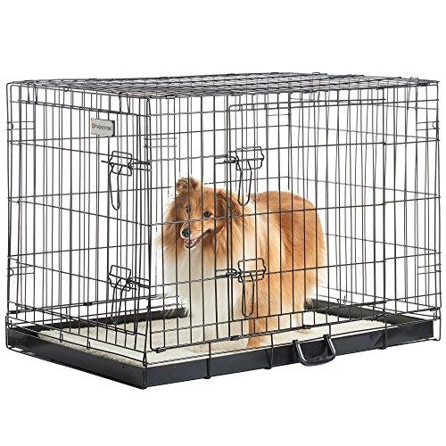 "eSecure 36"" 2 Türen Metall Welpe Hund Haustier Käfigtraining Transportkäfig"
