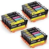 JIMIGO 364 XL 364XL Cartouches Remplacement Pour HP 364 Encre Compatible Avec HP...