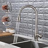 Armatur Küchenarmatur 360°Drehbar Wasserhahn mit Ausziehbar Brause Einhebelmischer Spültischarmatur für Küche