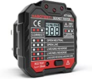 Andoer HABOTEST Advanced RCD Electric Socket Tester Automatic Neutral Live Earth Wire Testing Circuit Polarity Detector Wall