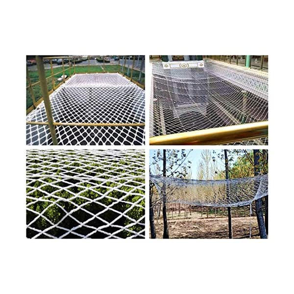 """Stairway Net - Baby Safety Rail Nets Goal for Soccer Heavy Duty Trellis Netting for Climbing Plants White 6mm/10cm (Size : 10x10m) Hwt's net ▲Multi-purpose protection net: family balcony and railing balcony stairs safety net railing stairs anti-cat climbing, anti-fall and other enhanced protection; wall, home, theme party hotel, hotel, cafe, bookstore, restaurant, decoration, hanging, etc. ▲Child safety net size * rope diameter: 10cm * 6mm (4 """"* 15/64) length * width: please purchase according to your actual needs. We have any other size (rope diameter, mesh, length * width) rope net, Support customization. If you have any questions or needs, please contact us. ▲Safety net material: made of nylon braided rope, hand-tightened. It has beautiful colors and economical sun protection. Suitable for all kinds of interior decoration, anti-fall and protection. 4"""