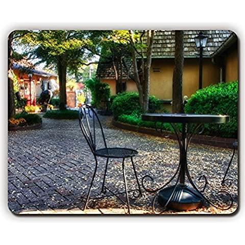 high quality mouse pad,garden plants sculptures houses table chairs autumn
