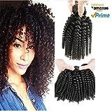 Morningsilkwig 1 Bundle Grade 6A Tissage Naturels Boucles Crepus Bresilien Cheveux 14 Pouces Vierges Afro Kinky Curly Cheveux Humains Weave 100 Gramme P. Bundle