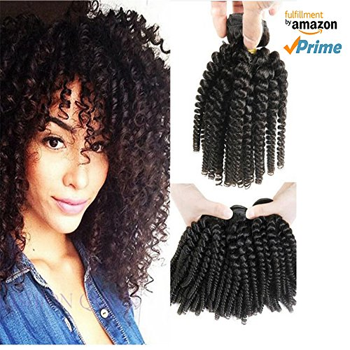 Morningsilkwig 1 Tissage Afro Naturels Boucles Crepus Bresilien Cheveux 14  Pouces Vierges Afro Kinky Curly Cheveux aee0df63869