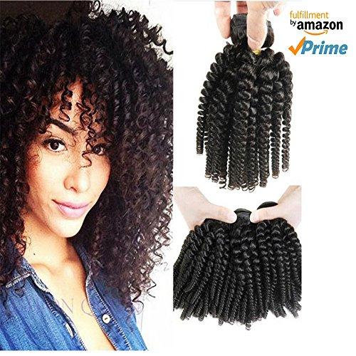 Morningsilkwig Bundles Afro Kinky curly frauen haare perücke 100g 6A Grade brasilianische jungfräuliches haar kinky curly menschliches haar (Haar Verlängerung Menschliches Lockig)