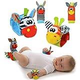 Cute Animal Infantil 4pcs (2pcs de la cintura y 2pcs calcetines) SOZZY SOCKS Bell correa traqueteos y calcetines de pie Finde
