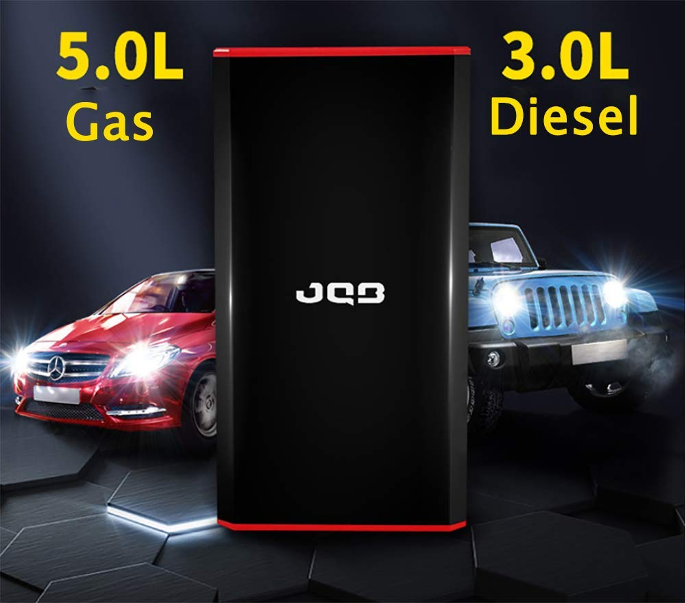 LALEO 400A 7500mAh 12V Arrancador de Coches (hasta 5, 0L Gasolina o 4, 0L Diesel), IP68 Impermeable con Carga Rápida QC3.0 USB Linterna LED Powerbank Jump Starter