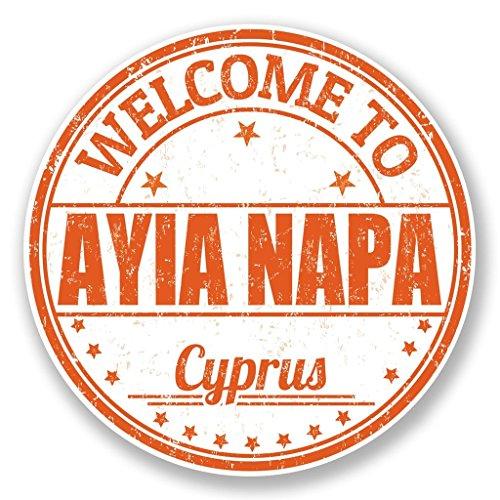 2 x 30cm/300mm Ayia Napa Zypern Vinyl SELBSTKLEBENDE STICKER Aufkleber Laptop reisen Gepäckwagen iPad Zeichen Spaß #6753 (Computer Napa)