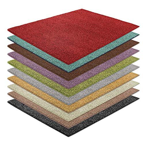 casa pura Shaggy Teppich Bali | weicher Hochflor Teppich für Wohnzimmer, Schlafzimmer und Kinderzimmer | mit GUT-Siegel | Verschiedene Größen | viele Moderne Farben (240 x 340 cm, rot) -