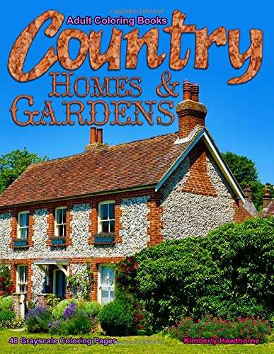 Adult Coloring Books Country Hom...