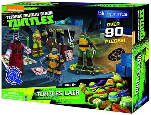 Jazwares 12710 - Blueprints - Teenage Mutant Ninja Turtles Versteck Deluxe Pack, 90 Teile