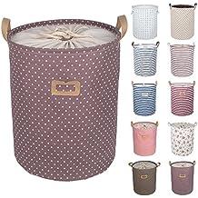 dokehom lino y algodón cubo de almacenamiento redondo lavandería cesta, disponible en 7colores