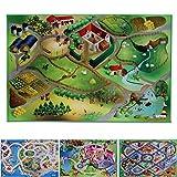 Spielmatte Auf dem Land | Bauernhof | Phthalat-frei | erweiterbar zu einer riesigen Spiellandschaft | 100 x 150 cm