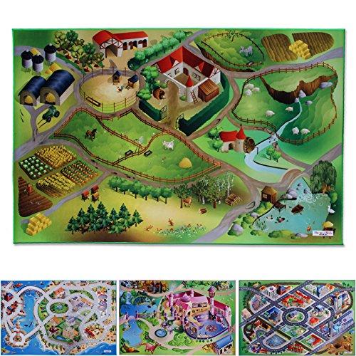 *Spielmatte Auf dem Land | Bauernhof | Phthalat-frei | erweiterbar zu einer riesigen Spiellandschaft | 100 x 150 cm*
