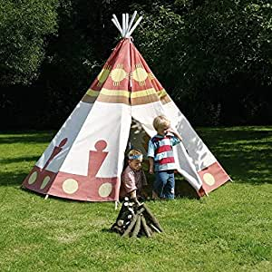 tipi tente indienne pour enfant tente de jeu avec tiges et toile jardin. Black Bedroom Furniture Sets. Home Design Ideas