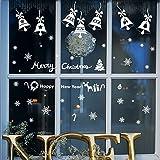 Alicemall Weihnachten Dekoration Fenster Sticker PVC Wandtattoo Fröhliche Sticker Kinderzimmer Wohnzimmer Schaufenster (Weihnachtsdeko 10)
