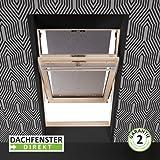 Solstro Markise Außenmarkise Hitzeschutz für Dachfenster passend auf Velux, in Farbe schwarz, 78 cm breit (Achtung! Angegebene Maßen stehen für die Aussenmasse des Dachfensters und nicht für die des Stoffs!)