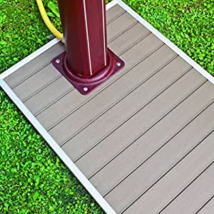 base pour douche solaire 90x60cm cadre aluminium lames imitation bois jardin. Black Bedroom Furniture Sets. Home Design Ideas