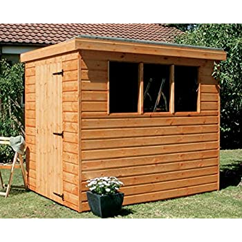 7x5 pent garden shed heavy duty tongue groove wood - Garden Sheds 7x5