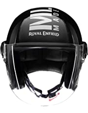 Royal Enfield Gloss Black Open Face with Visor Helmet Size (XL)60 CM (RRGHEL000042)