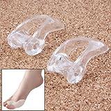 1 paio di separadita in silicone - benda per i piedi - alluce valgo - divisorio - protezione avampiede Trasparente