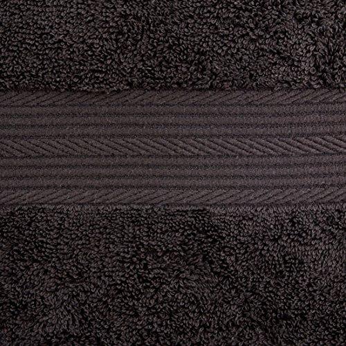 Handtuch Schwarz – Set 2 Badetücher & 4 Handtücher - 3
