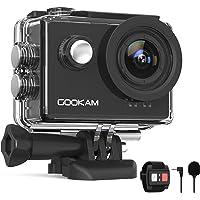 GOOKAM Action Cam 4K 60FPS 20MP WiFi Actionkamera 40M Unterwasserkamera EIS Sportkamera mit Externem Mikrofon 2.4G…