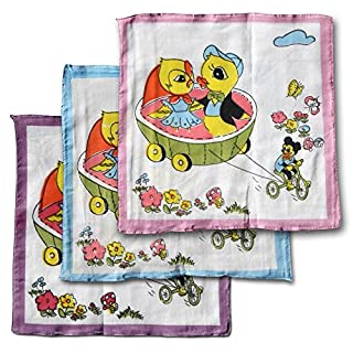 12 Pack Children's Handkerchiefs Hanky Children's Handkerchiefs Animals