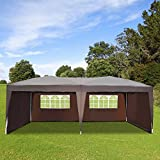 Outsunny Tonnelle Barnum Tente de réception Pliante 3 x 6 m Chocolat + Sac de Transport