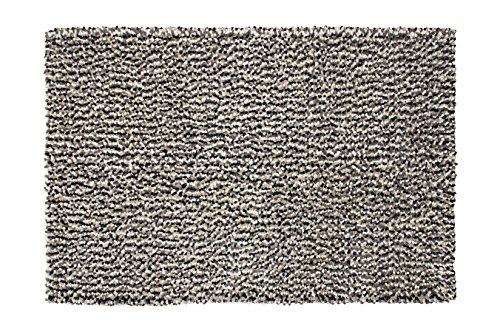 """Green Decore """"Alderny"""" Wollteppich, Elfenbein / Grau / Schwarz, 80 x 150 cm"""