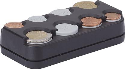 hr-imotion 8er Münzbox für Euro Münzen von 1 Cent bis 2 Euro mit Federausgabe [Made in Germany | Selbstklebend] - 10310301