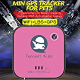 Tencent Kids Locator with GPS Tracker for Children,Elderly,Pets,Dogs,Cars Security for Luggage in Traveling (Red)