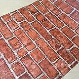 LXPAGTZ Tapete selbstklebende pastorale Tapete Vintage koreanischen Backstein Muster Schlafzimmer Schlafzimmer Kinder Zimmer Hostel warm und wasserdicht lange 9.5 m * Breite 0,53 m Blumen (5 m ²) , 1088