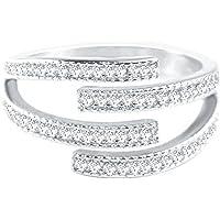 AIUIN - Anello in argento 925 multistrato con diamante in argento, accessorio per gli amici amanti del regalo misura…