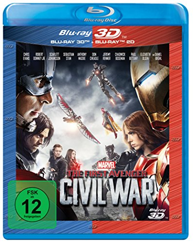 The First Avenger: Civil War 3D +2D Nachfolgeprodukt [3D Blu-ray]