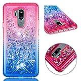 LG G7 ThinQ Glitter Case, Gradual Colorful Quicksand Series
