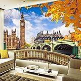 Wandbild Tapete London Big Ben Gebäude Landschaft 3D Wohnzimmer Sofa Tv Hintergrund Fotowand Papier Home Decor Malerei, 260X180 Cm (102,36X70,87 In)