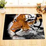 LB Tema de Animales Salvajes, Tigre,Alfombra de baño,Antideslizante y antimoho,60 * 40