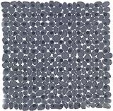Wenko 22500100 Duscheinlage Paradise Antirutsch-Duschmatte mit Saugnäpfen, Kunststoff, anthrazit, 54 x 54 cm