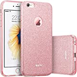 Coque iPhone 6, ESR Bling Bling Gliter Sparkle Coque iPhone 6 Paillette [ Ultra Mince ] Housse Etui Premium Coque pour Apple iPhone 6 / iPhone 6s (Rose Gold)